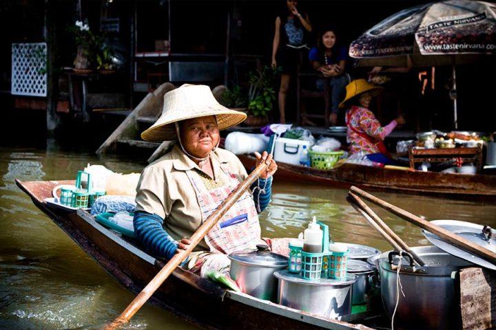 Bangkok Tour - Floating Market Sunset